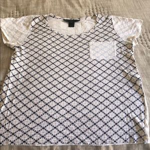 Marc Jacobs short sleeve patterned top